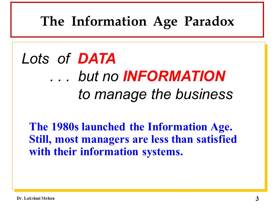 The Information Age Paradox