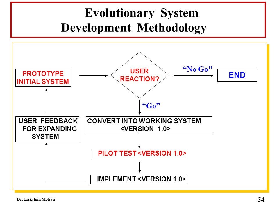 Evolutionary System Development Methodology