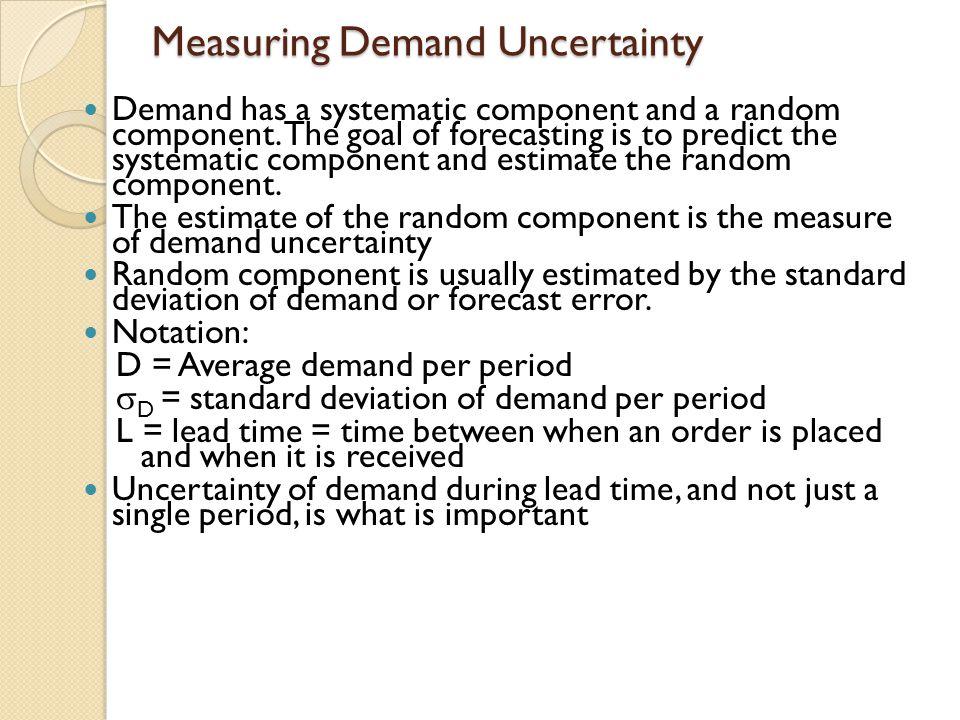 Measuring Demand Uncertainty