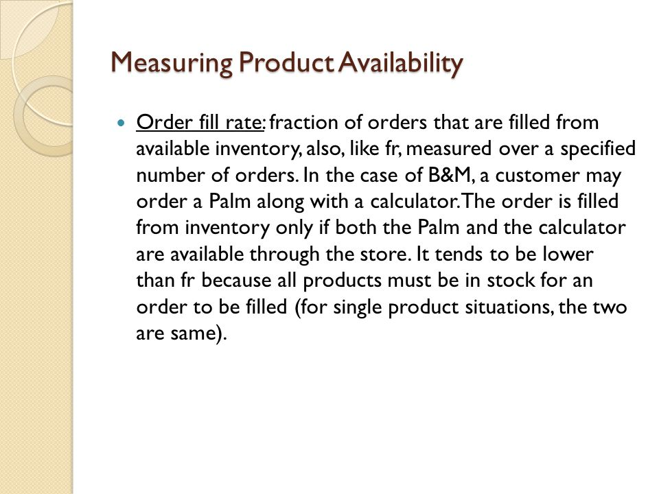 Measuring Product Availability