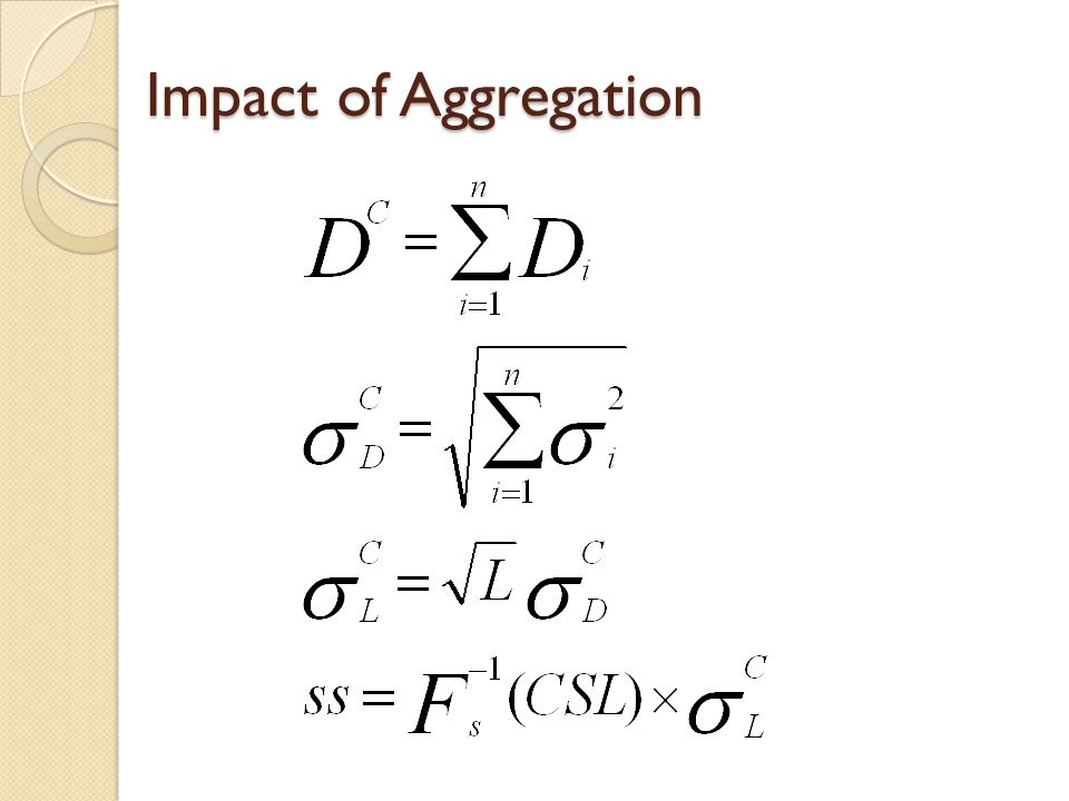 Impact of Aggregation