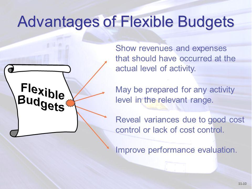 Advantages of Flexible Budgets