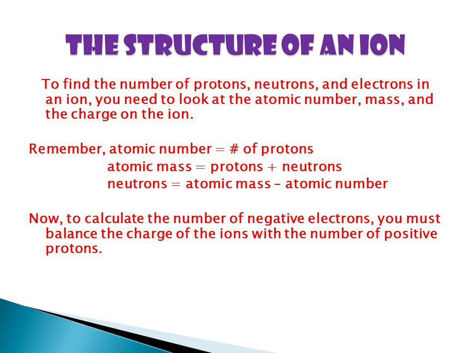The Structure of an Ion