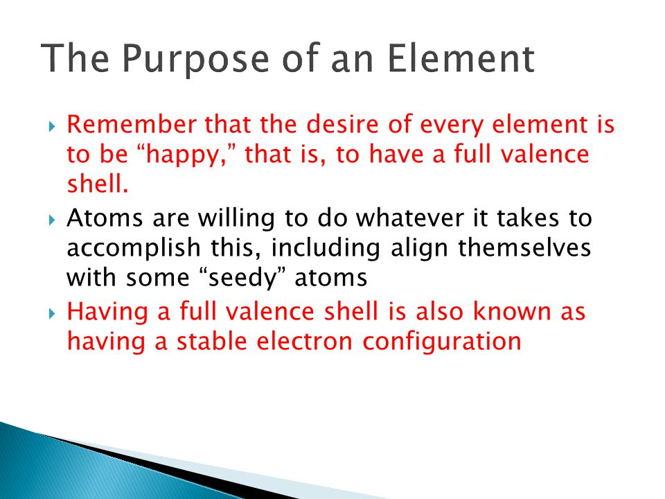 The Purpose of an Element