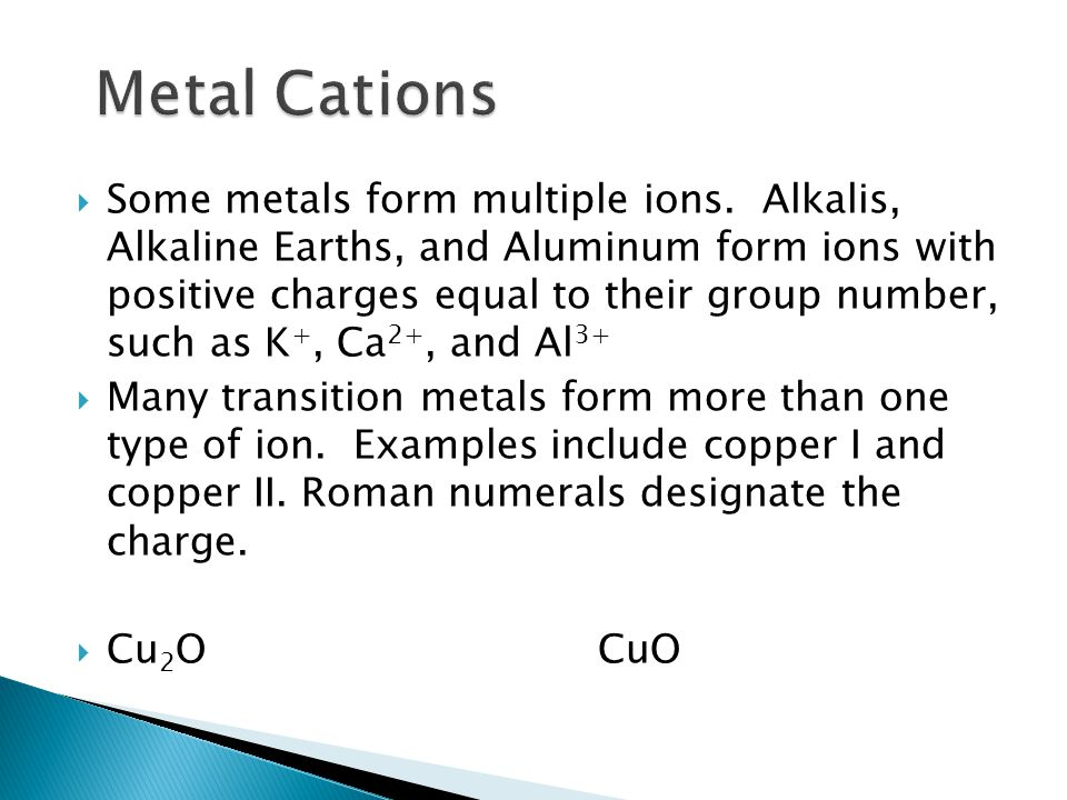 Metal Cations