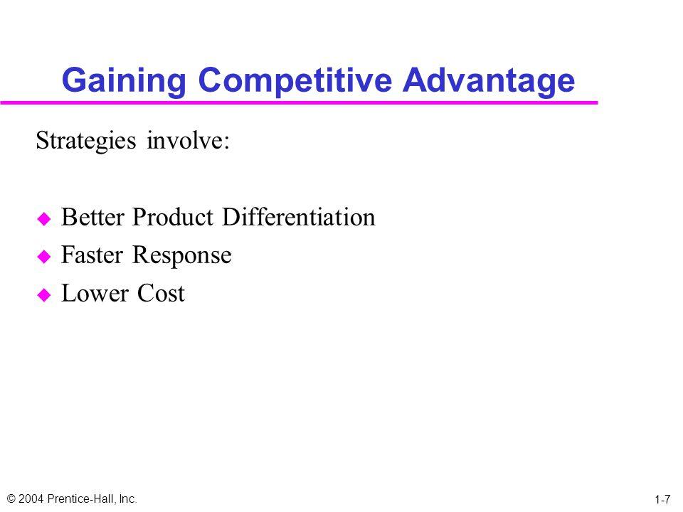 Gaining Competitive Advantage