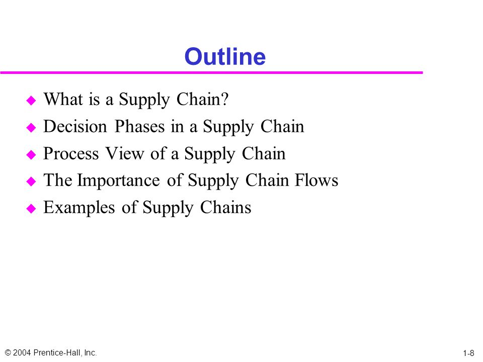 Outline What is a Supply Chain Decision Phases in a Supply Chain