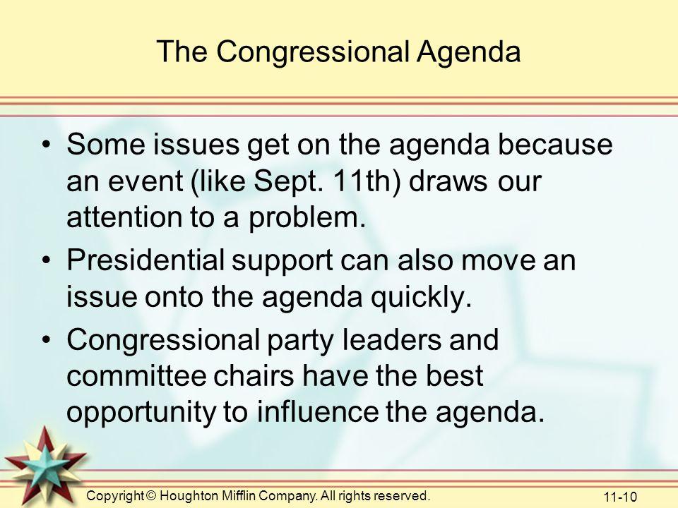 The Congressional Agenda