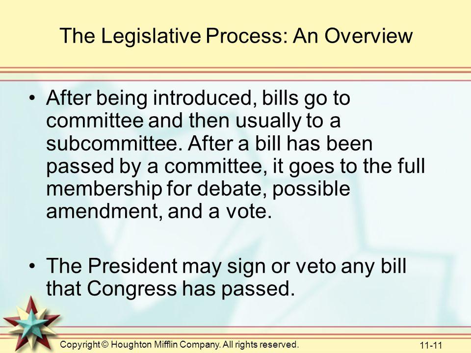 The Legislative Process: An Overview
