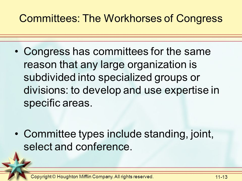 Committees: The Workhorses of Congress