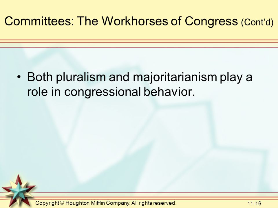 Committees: The Workhorses of Congress (Cont'd)