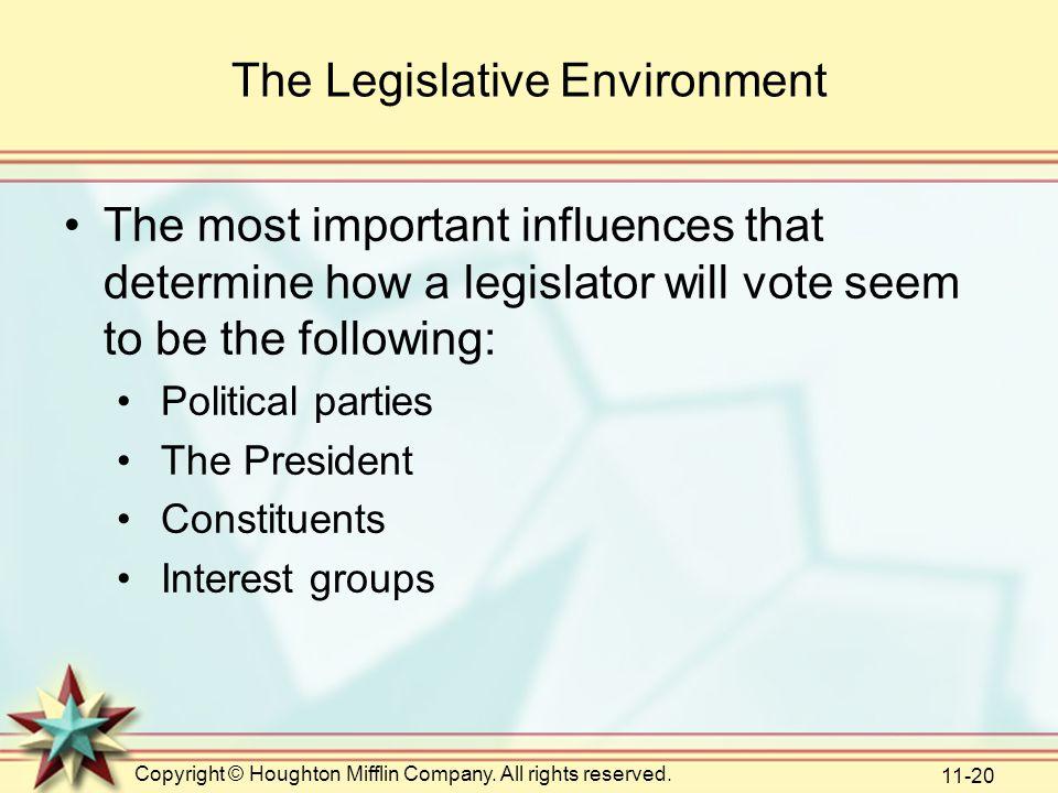 The Legislative Environment