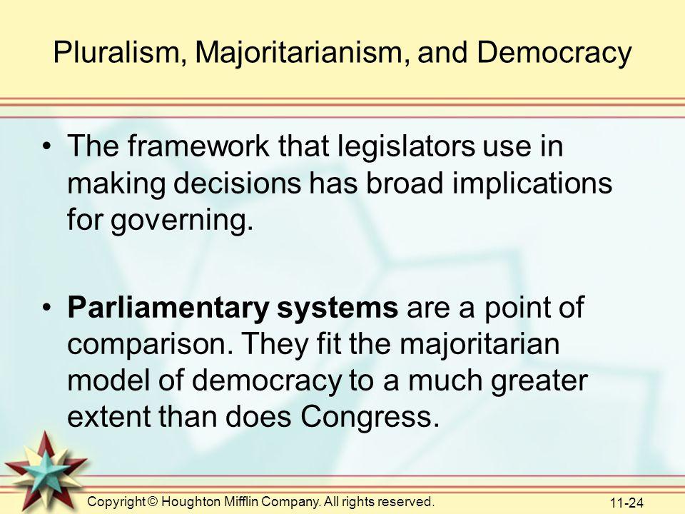 Pluralism, Majoritarianism, and Democracy