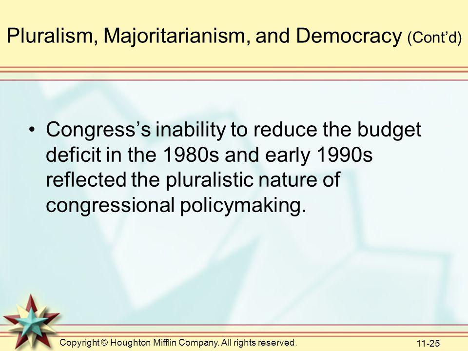 Pluralism, Majoritarianism, and Democracy (Cont'd)
