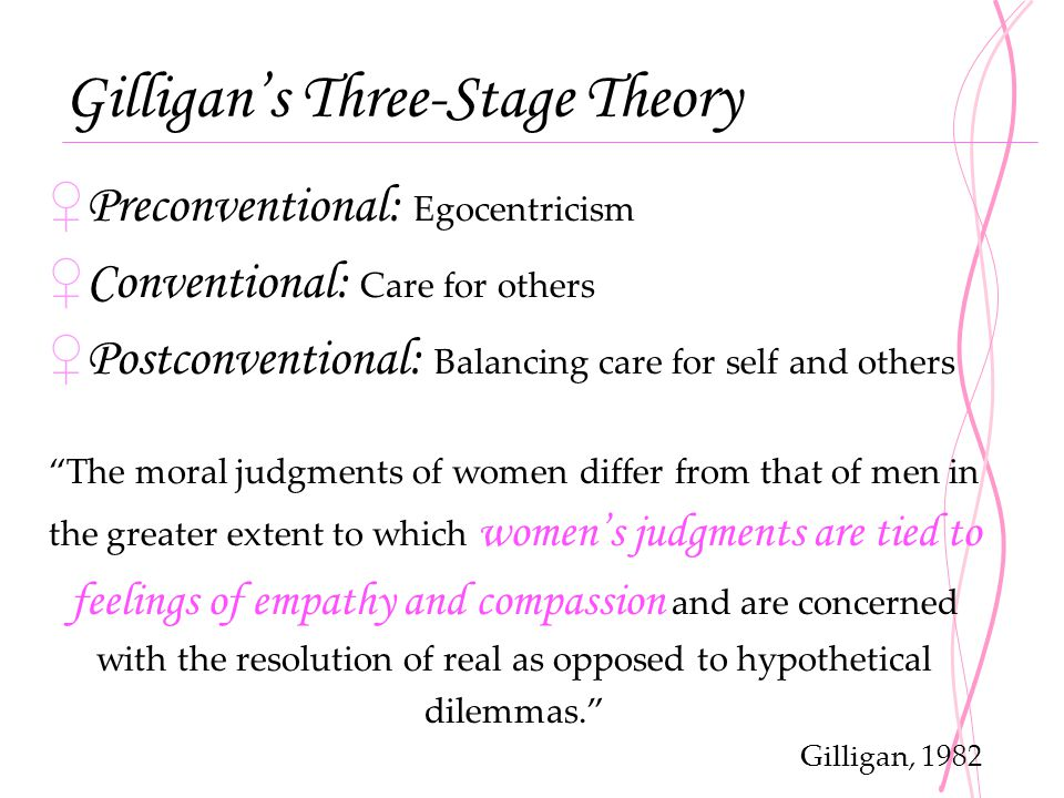 Gilligan's Three-Stage Theory