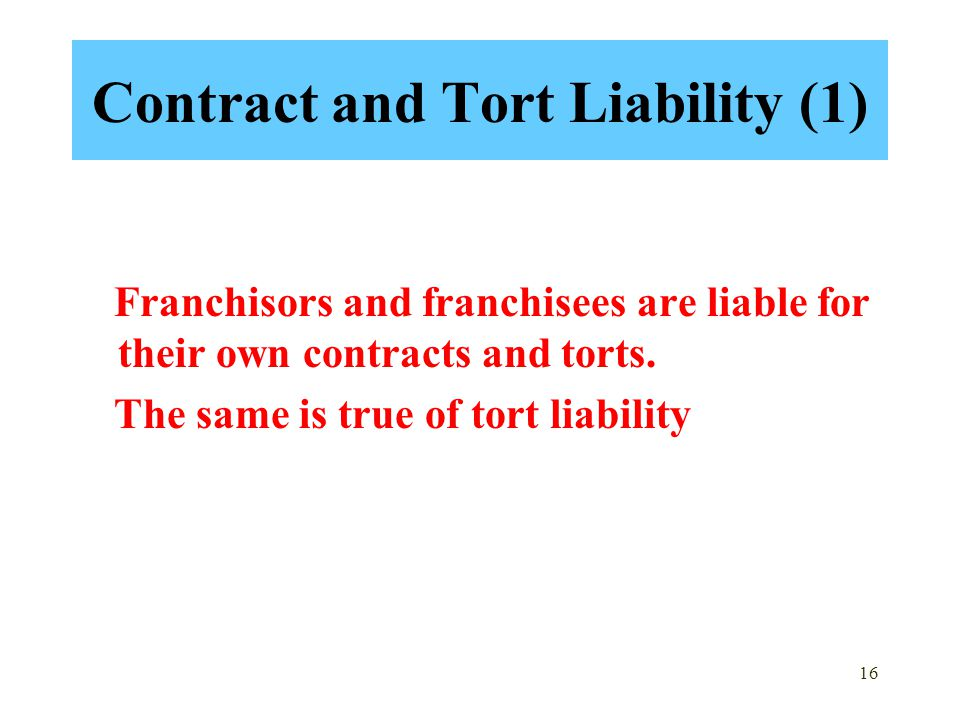 Contract and Tort Liability (1)