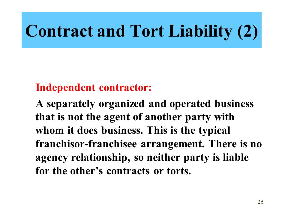 Contract and Tort Liability (2)