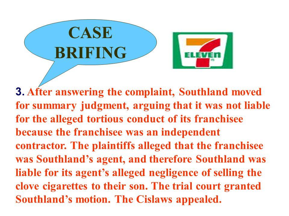 CASE BRIFING