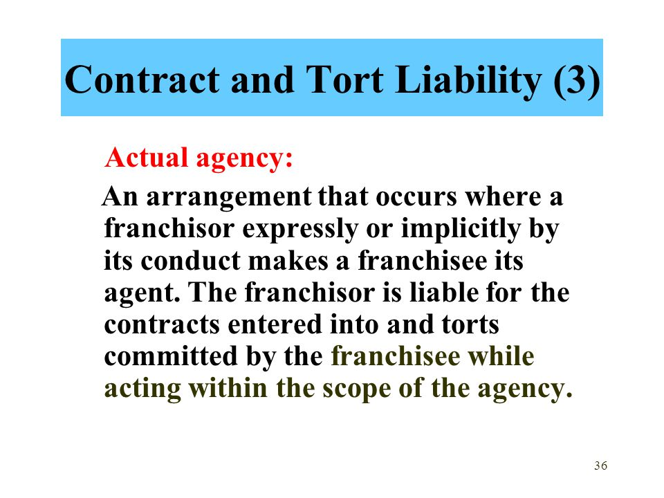 Contract and Tort Liability (3)