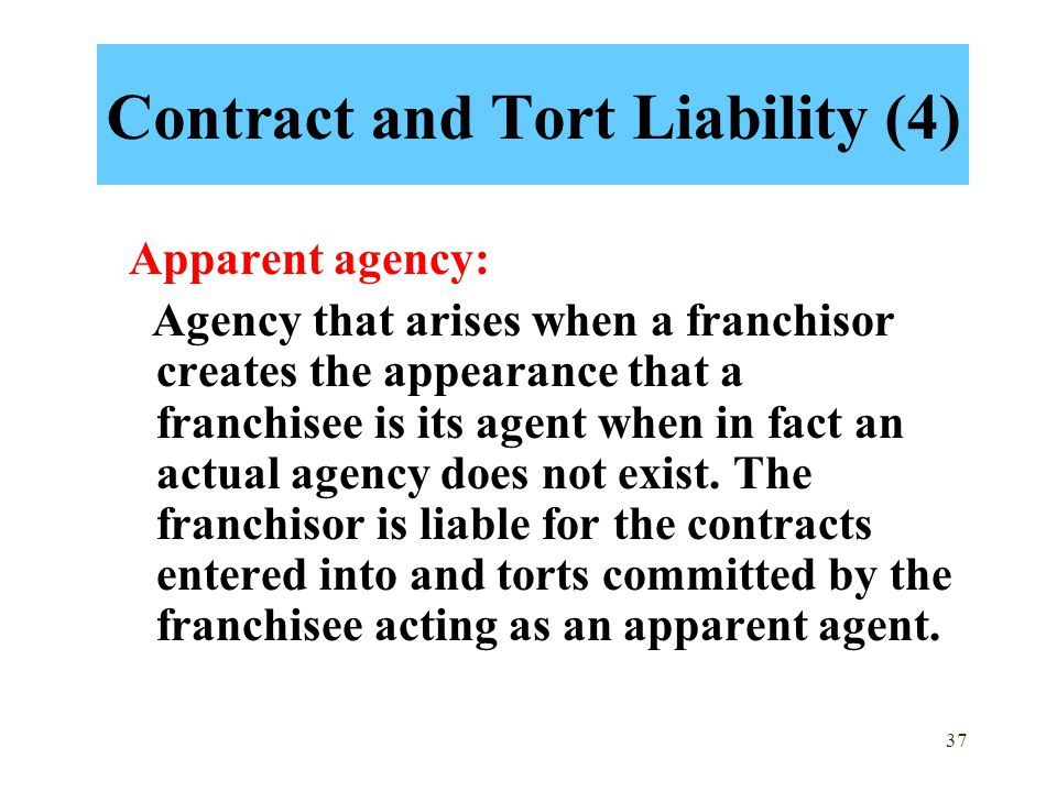 Contract and Tort Liability (4)