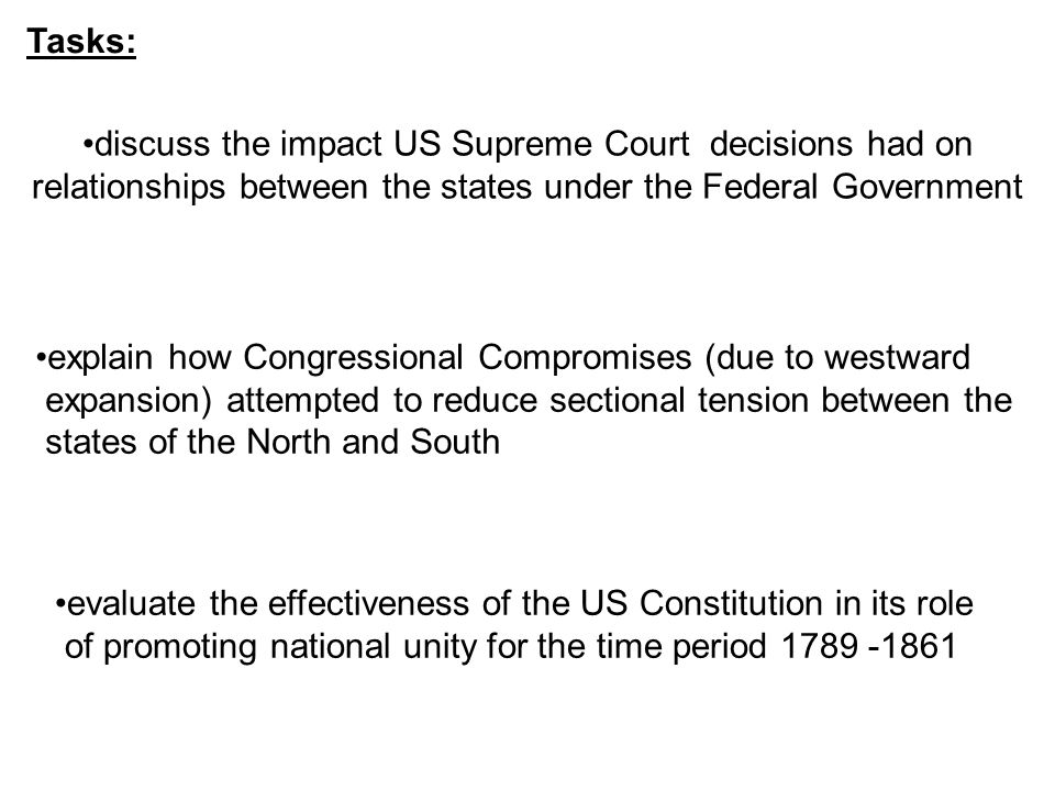 dbq essay scaffolding us constitution sectionalism ppt  tasks discuss the impact us supreme court decisions had on relationships between the states under