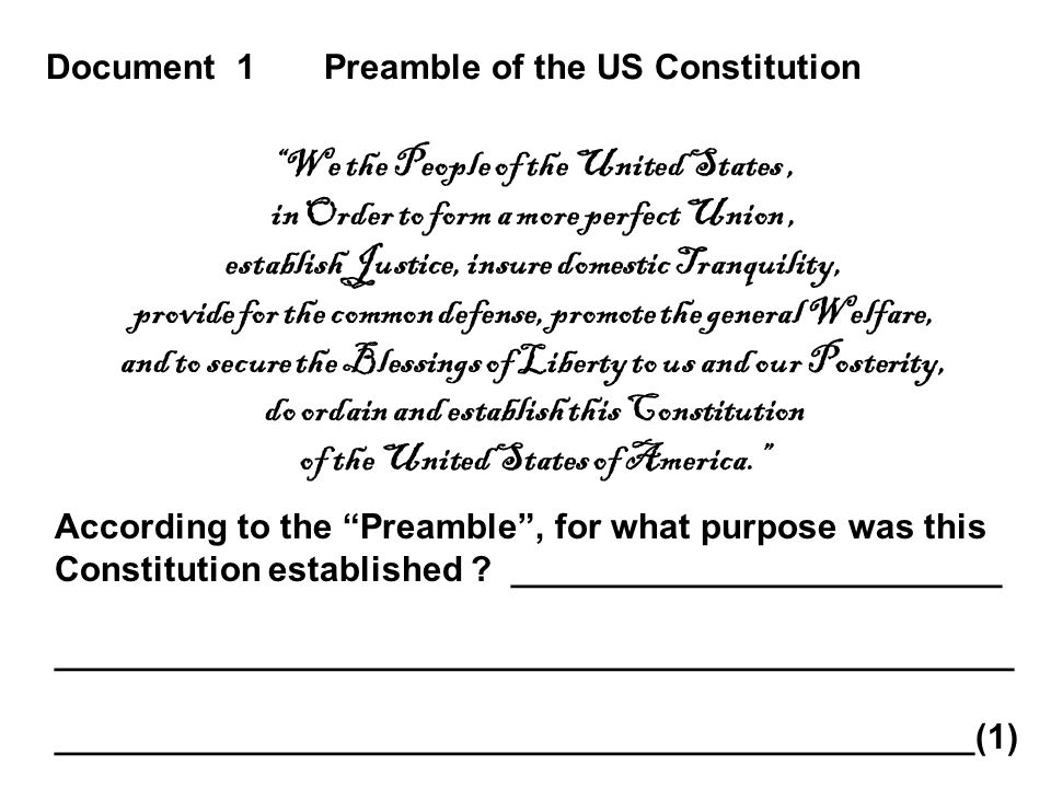 dbq essay scaffolding us constitution sectionalism ppt  document 1 preamble of the us constitution