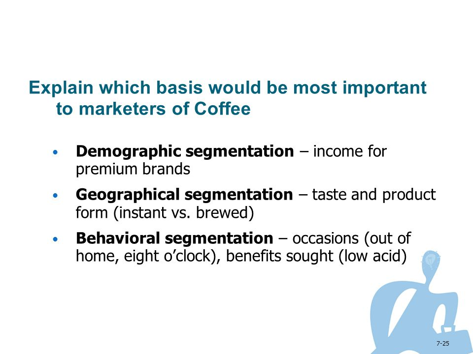 Explain which basis would be most important to marketers of Coffee