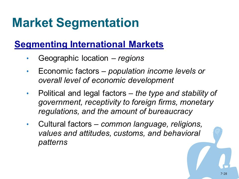 Market Segmentation Segmenting International Markets