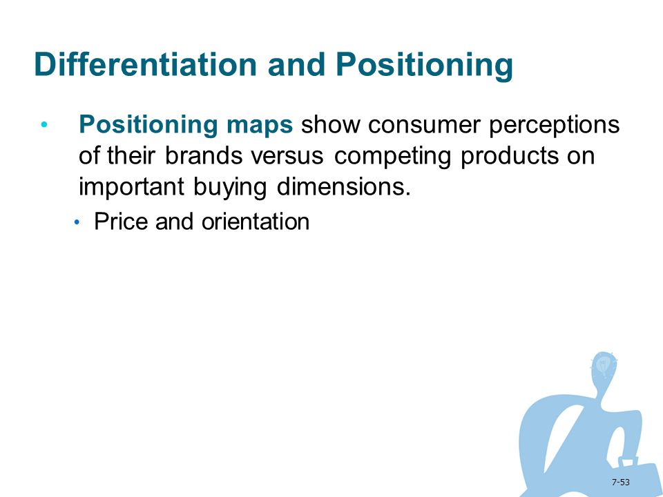 Differentiation and Positioning