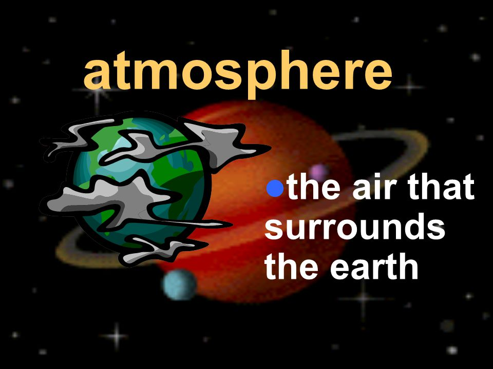 the air that surrounds the earth