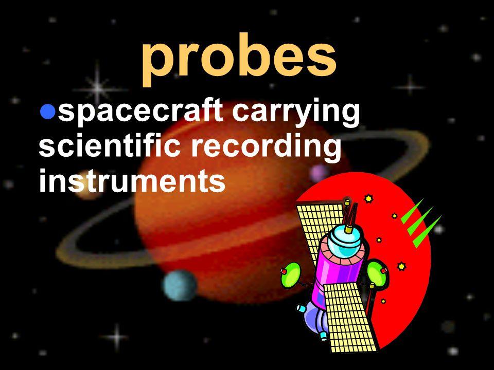 spacecraft carrying scientific recording instruments