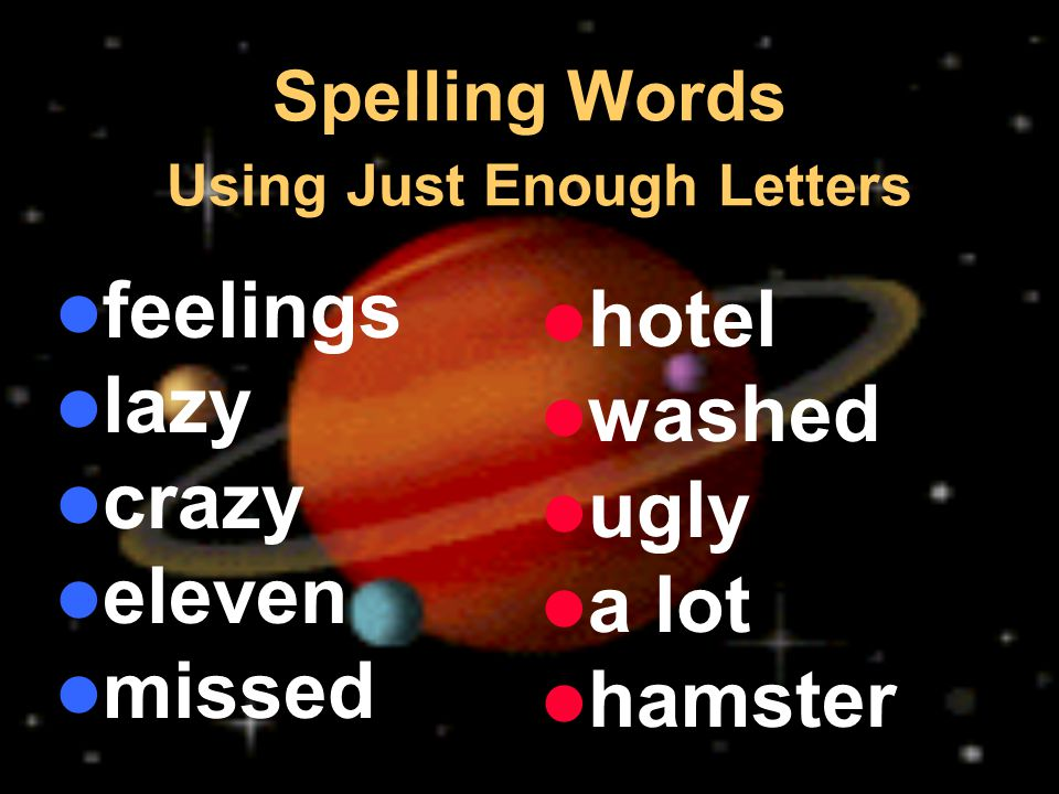 Spelling Words Using Just Enough Letters