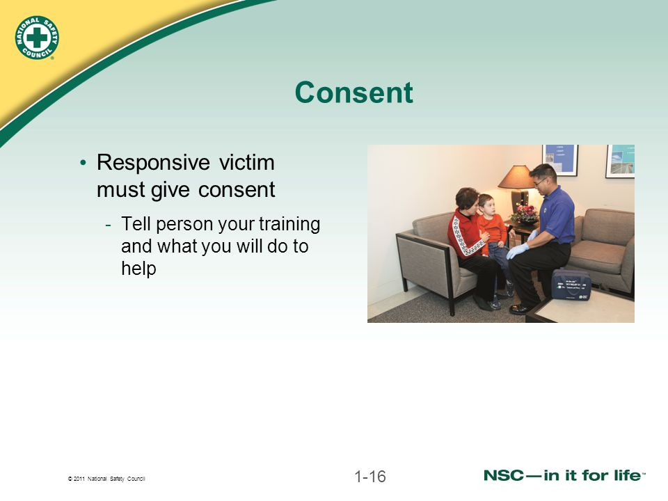 Consent Responsive victim must give consent