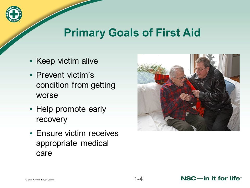 Primary Goals of First Aid