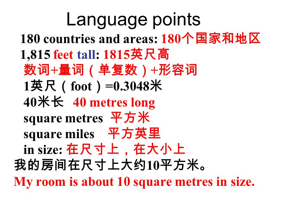 Language points 180 countries and areas: 180个国家和地区