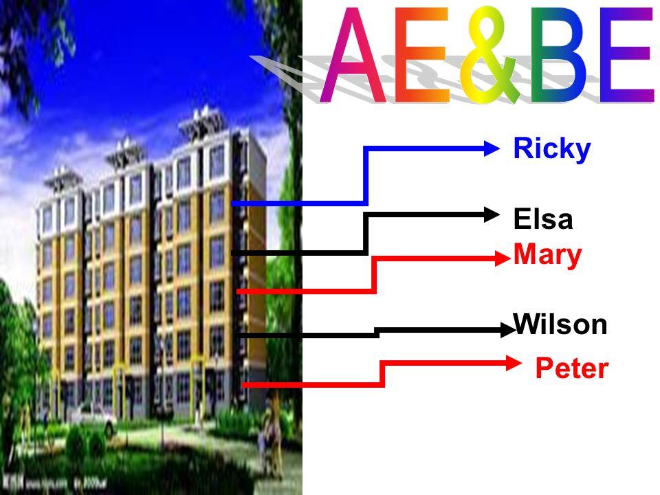 AE&BE Ricky Elsa Mary Wilson Peter