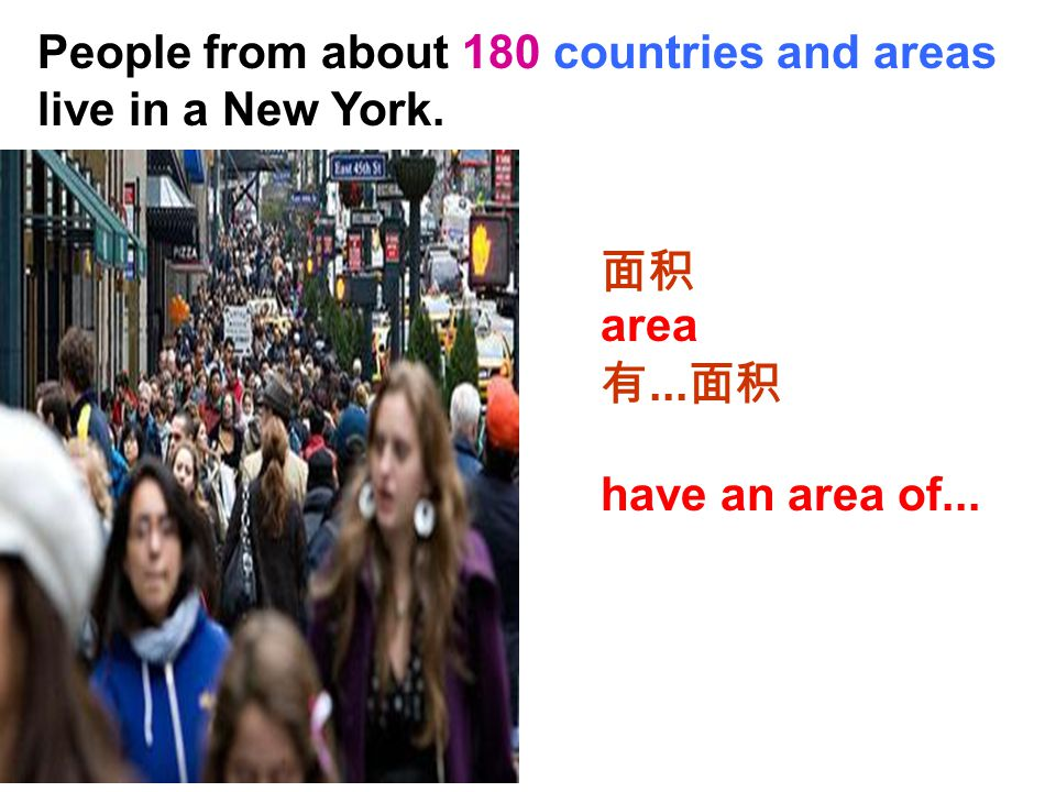 People from about 180 countries and areas