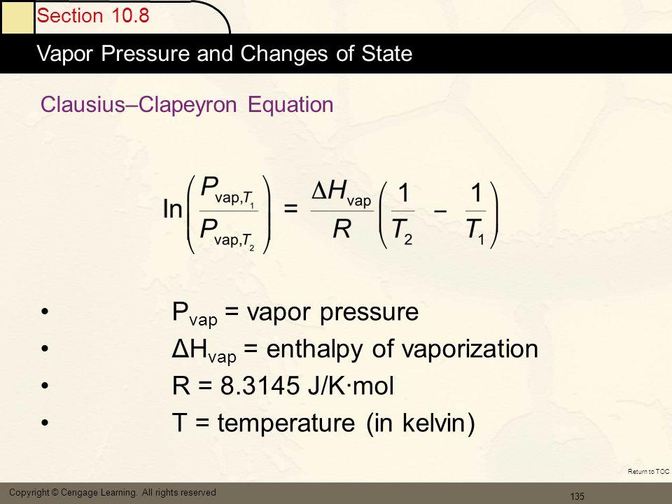 Clausius–Clapeyron Equation