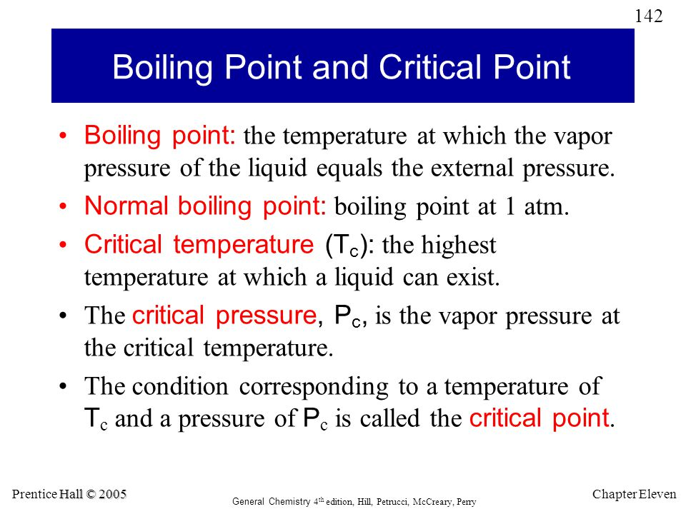 Boiling Point and Critical Point