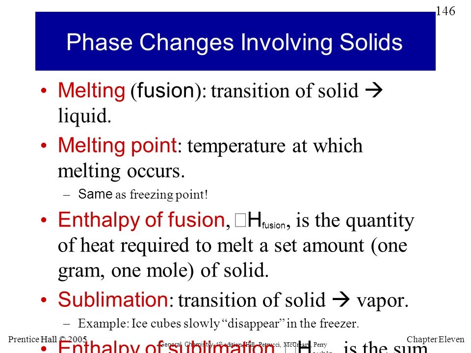 Phase Changes Involving Solids