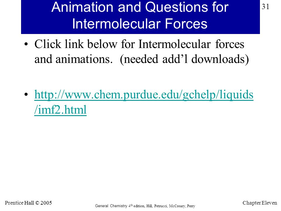 Animation and Questions for Intermolecular Forces