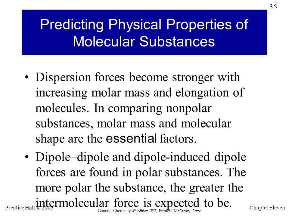 Predicting Physical Properties of Molecular Substances
