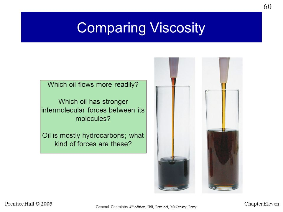 Comparing Viscosity Which oil flows more readily
