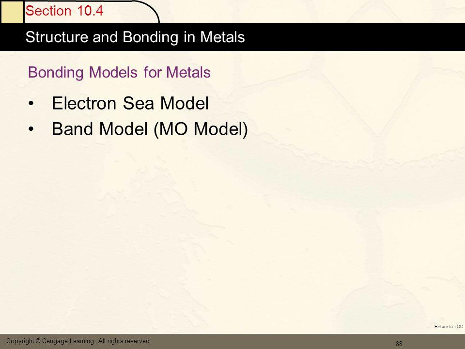 Bonding Models for Metals