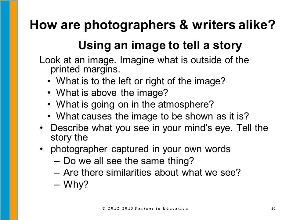 How are photographers & writers alike