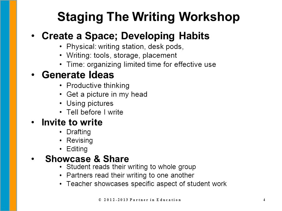 Staging The Writing Workshop