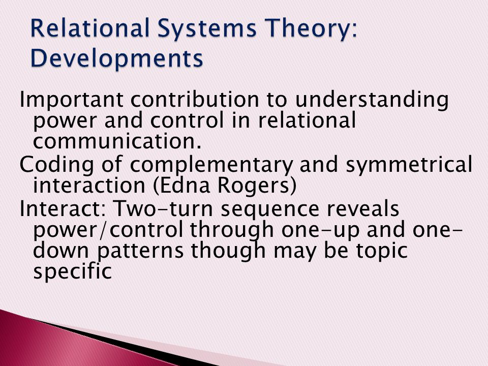 Relational Systems Theory: Developments