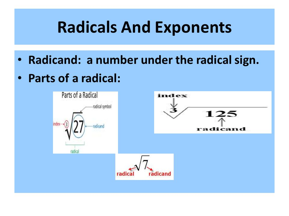 Radicals And Exponents