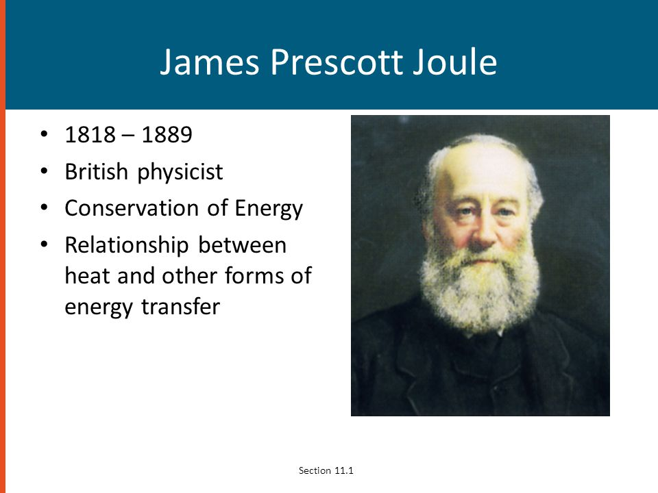 James Prescott Joule 1818 – 1889 British physicist