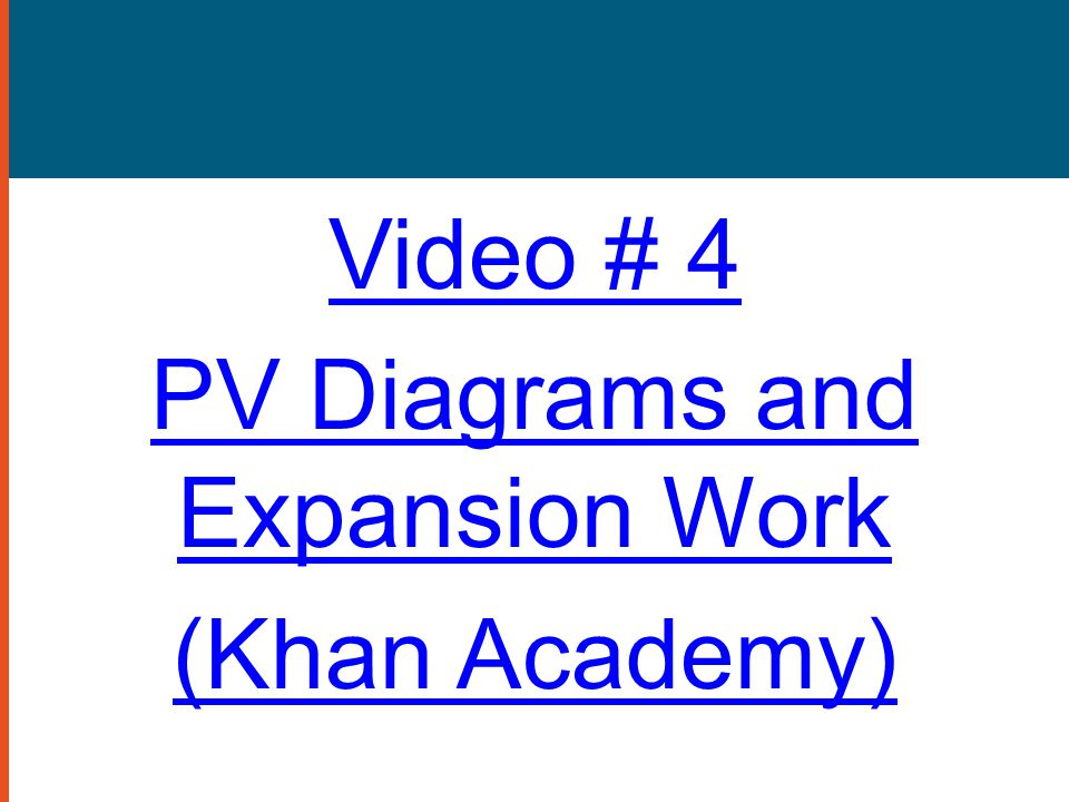 PV Diagrams and Expansion Work